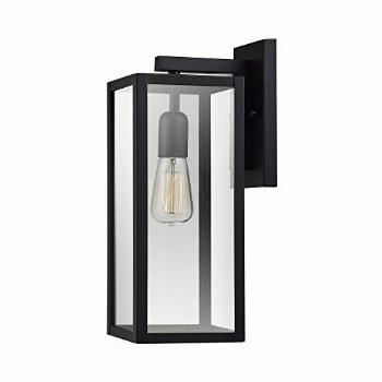 Bowery 1-Light Outdoor Indoor Wall Sconce, Matte Black,